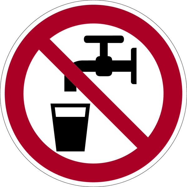 Verbotszeichen, Kein Trinkwasser D-P005 - DIN 4844