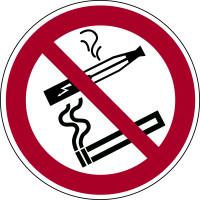 Verbotszeichen, Rauchen und E-Zigarette verboten - praxisbewährt