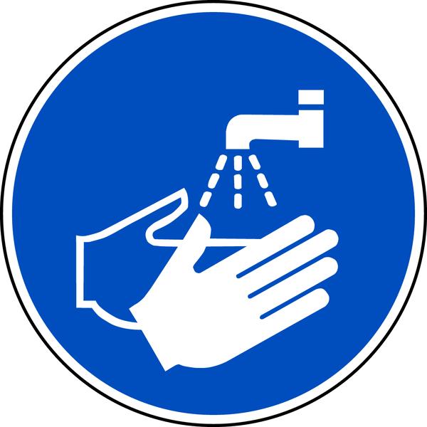 Gebotszeichen, Hände waschen M011 - ASR A1.3 (DIN EN ISO 7010)