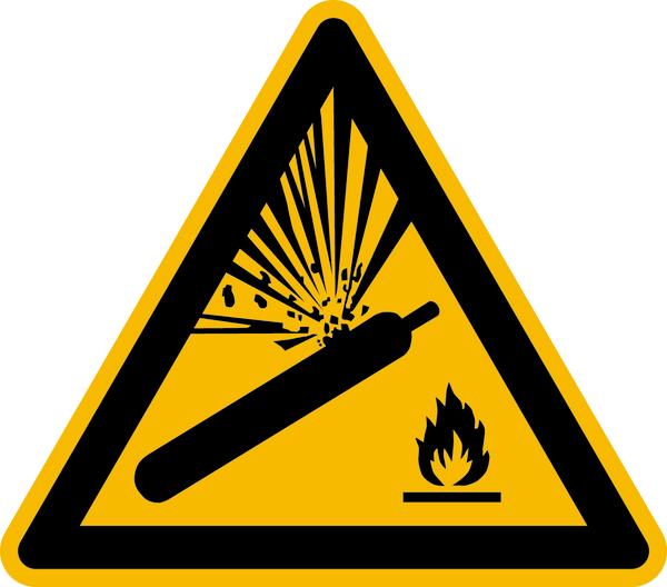 Warnzeichen, Warnung vor Gasflaschen W029 - ASR A1.3 (DIN EN ISO 7010)