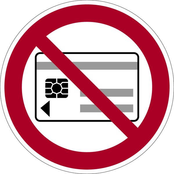 Verbotszeichen, Mitführen v. magnetischen oder elektronischen Datenträgern verboten - VE = 6er Bogen