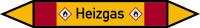 Rohrleitungskennzeichen Heizgas