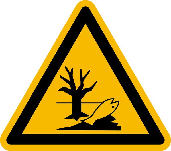 Warnzeichen Warnung vor Umweltgefahr/ Verseuchung