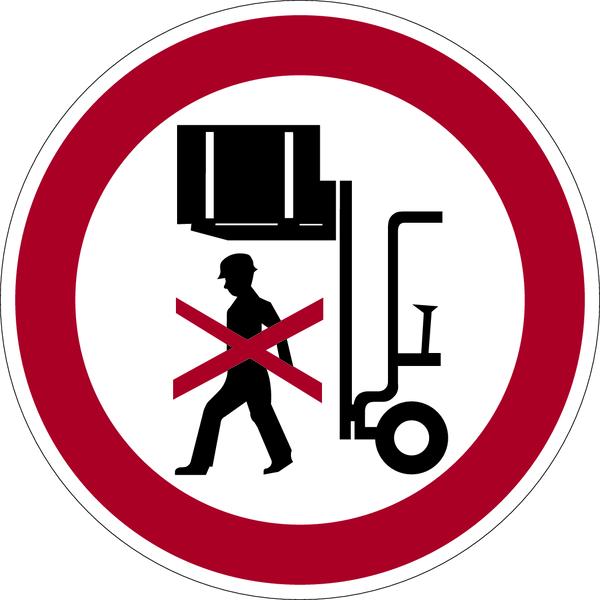 Verbotszeichen, Nicht unter angehobene Last treten - praxisbewährt