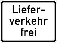 Verkehrszeichen - Lieferverkehr frei, Zusatzzeichen 1026-35