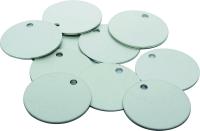 Kennzeichnungsmarken, Aluminium silber, ohne Gravur - VE = 100 Stk.