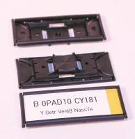 PBT Schilderträger mit integrierten Endkappen