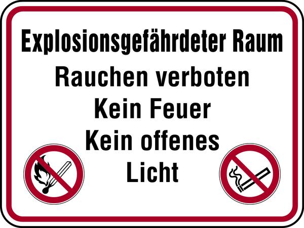 Hinweisschild, Explosionsgefährdeter Raum
