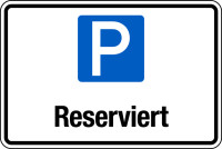 Parkplatzschild, Reserviert, 200x300mm, Aluverbund