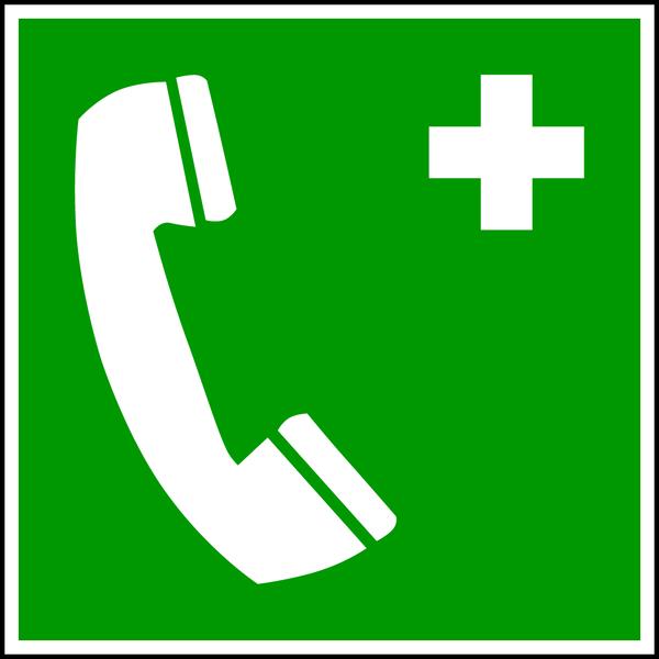 Rettungszeichen, Notruftelefon E004 - ASR A1.3 (DIN EN ISO 7010)