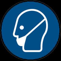 Gebotszeichen, Bartschutz tragen - praxisbewährt, Folie