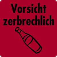 Versandetikett, Vorsicht zerbrechlich - VE = Rolle à 100/500 Stk.
