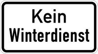 Verkehrszusatzzeichen, Kein Winterdienst, Aluminium, 231 x 420 mm