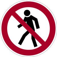 Verbotszeichen, Für Fußgänger verboten P03 - BGV A8