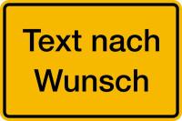 Hinweisschild, Aluminium: Rand geprägt - Grund gelb, Schrift und Rand schwarz
