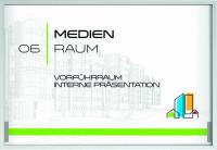 MADRID Silver Line Türschild, 299,5 x 212,5mm