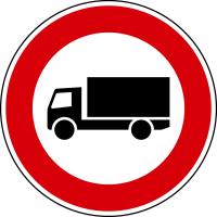 Verkehrszeichen - Verbot für Kfz über 3,5 t, Zeichen 253