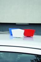 Magnetische Leitzahlträger, unbeschriftet, 75x130mm, Kunststoff
