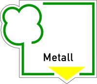 Abfallkennzeichen, Metall, Folie