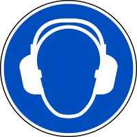 Gebotsschild, Gehörschutz benutzen M003 - ASR A1.3 (DIN EN ISO 7010)