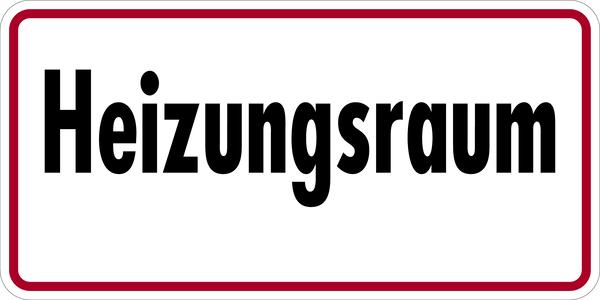 Gebäudekennzeichnung Heizungsraum