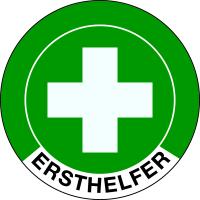 Aufkleber Ø 40 mm - Ersthelfer - Bogen à 10 Etiketten