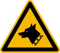 Warnschild, Warnung vor dem Wachhund W013 - ASR A1.3 (DIN EN ISO 7010)