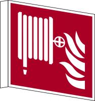 Brandschutzzeichen, Fahnen-/Nasenschild Löschschlauch F002 - ASR A1.3 (DIN EN ISO 7010)