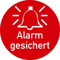 Türschild, Alarm gesichert, Ø 50 mm