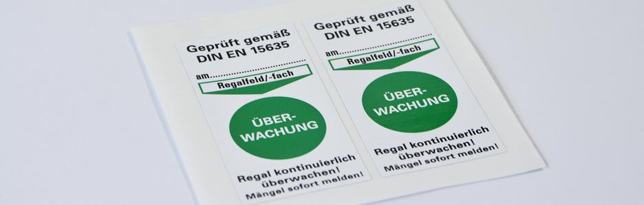 Produkte - Regalkennzeichnung nach DIN EN 15635