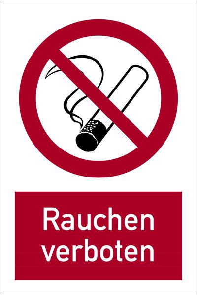 Kombischild, Rauchen verboten - DIN 4844