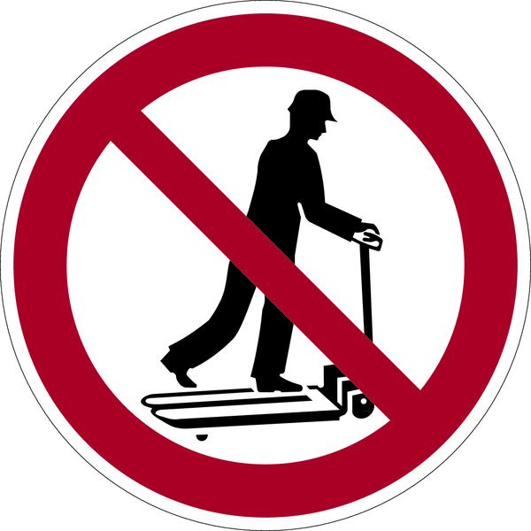 Verbotszeichen, Mit Hubwagen rollen verboten - praxisbewährt