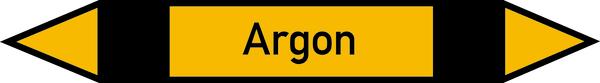 Rohrleitungskennzeichen Argon
