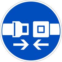 Gebotszeichen, Sicherheitsgurt benutzen D-M011 - DIN 4844/BGV A8