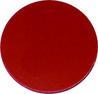 Kennzeichnungsmarke, Kunststoff (Hart-PVC) blanko, Wunschfarbe, Ø 20 - 60 mm