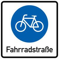 Verkehrszeichen, Beginn einer Fahrradstraße, Zeichen 244.1