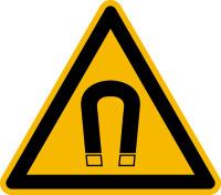 Warnzeichen, Warnung vor magnetischem Feld D-W013 - DIN 4844/BGV A8
