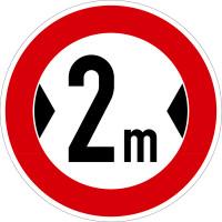 Verkehrszeichen - Verbot für Fahrzeuge über angegebene Breite, Zeichen 264