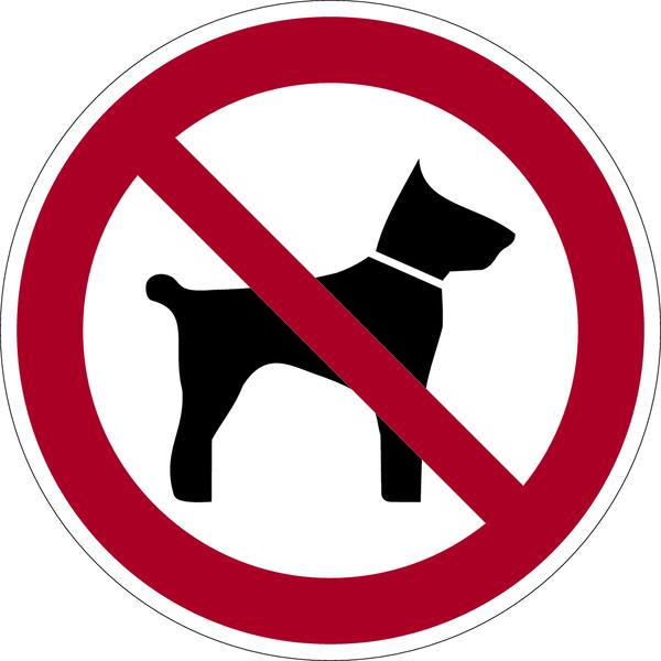 Verbotszeichen, Mitführen von Tieren verboten D-P014 - DIN 4844