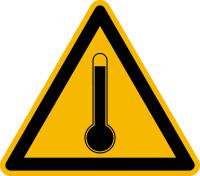 Warnschild, Warnung vor hoher Temperatur - praxisbewährt