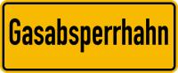Hinweisschild, Gasabsperrhahn, 100x240mm, Folie/Aluminium
