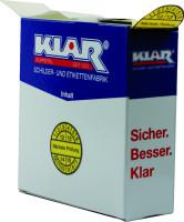 Prüfplakette, Nächste Prüfung, gelb/schwarz, Folie, Ø 30 mm - Spenderbox à 500 Stück
