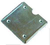 Einschubrahmen für Gefahrzettel, 300x320mm, Edelstahl
