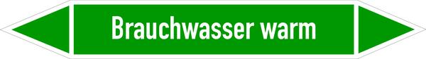 Rohrleitungskennzeichen Brauchwasser warm