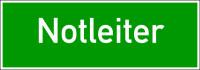 Rettungszeichen, Wortschild Notleiter