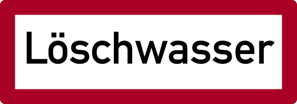 Brandschutzzeichen, Löschwasser - DIN 4066