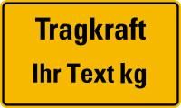 Tragkraftschild mit Wunschtext, gelb/schwarz