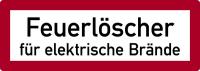 Brandschutzzeichen, Feuerlöscher für elektrische Brände - DIN 4066