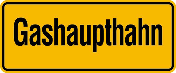 Hinweisschild, Gashaupthahn, 100x240mm, Folie/Aluminium