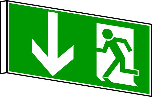 Rettungszeichen, Fahnen-/Nasenschild Notausgang - DIN 4844